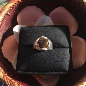 Men's sterling silver tiger eye ring 🔥